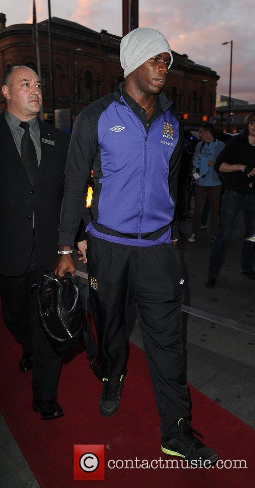 Mario Balotelli Celebrities outside the Hilton Hotel Manchester,...