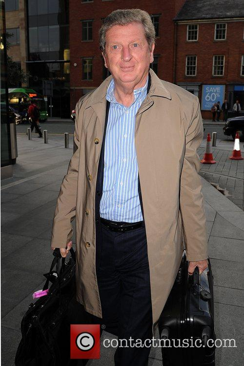 Roy Hodgson Celebrities outside the Hilton Hotel Manchester,...