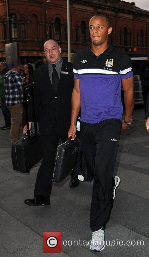 Vincent Kompany Celebrities outside the Hilton Hotel Manchester,...
