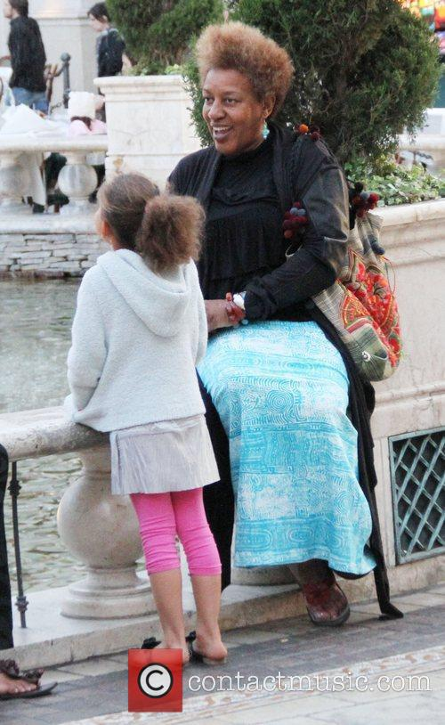 CCH Pounder at The Grove with her daughter...