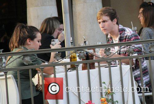 Lucas Cruikshank having lunch with a friend at...