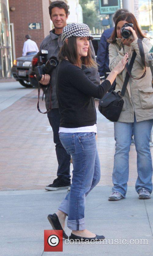 Soleil Moon Frye leaving a medical office in...