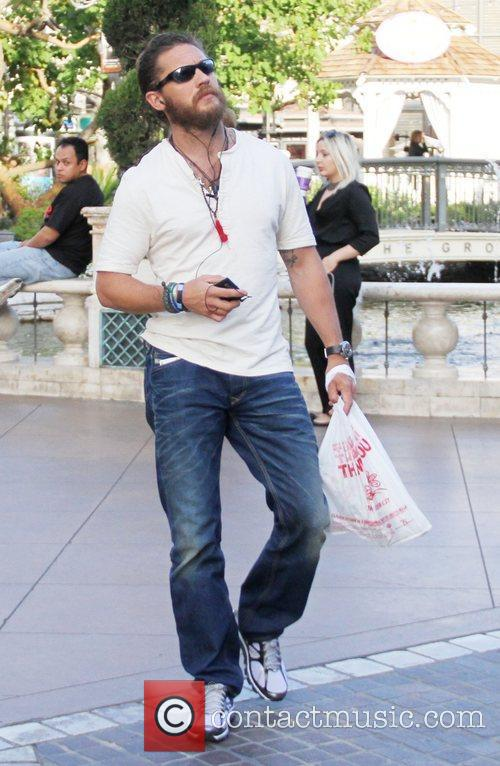 Tom Hardy out shopping at The Grove in...