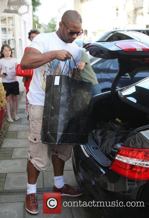 Jonathan 'JB' Gill of JLS leaving his hotel...