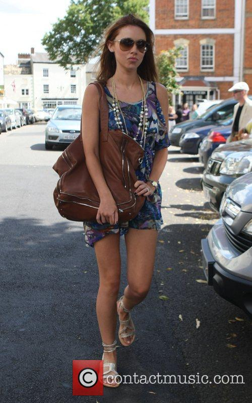 Una Healy leaving her hotel after attending the...