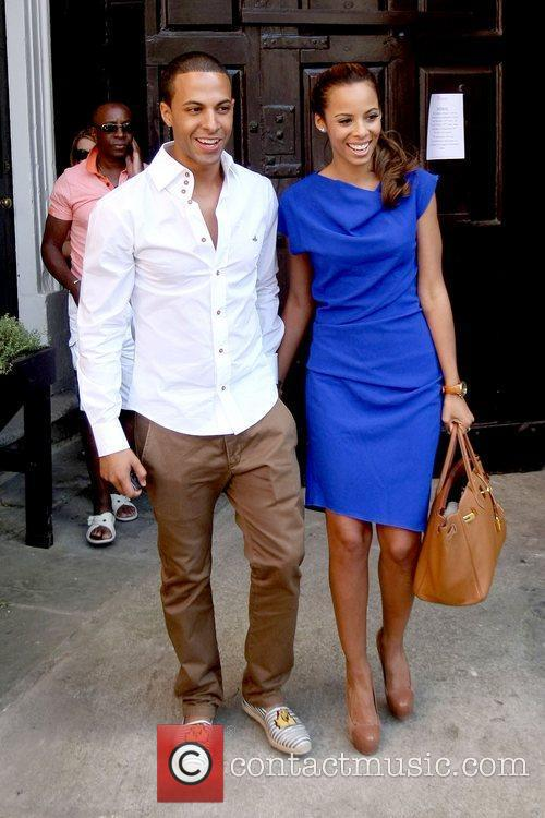 Marvin Humes and Rochelle Wiseman leaving their hotel...
