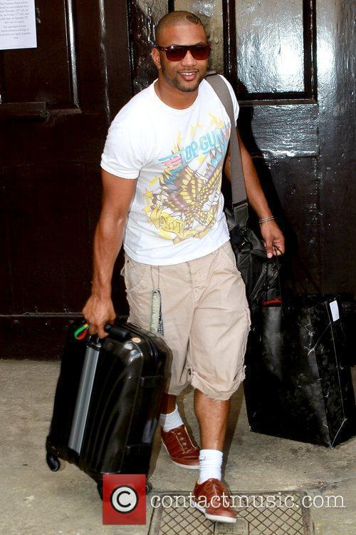 J.B. Gill Celebrities leaving their hotel after attending...