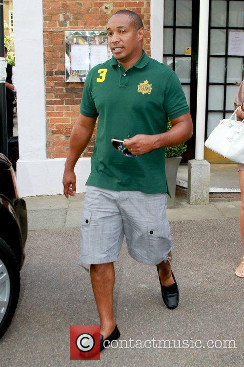 Paul Ince Celebrities leaving their hotel after attending...