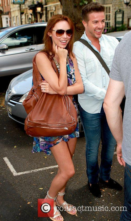 Una Healy and Ben Foden Celebrities leaving their...