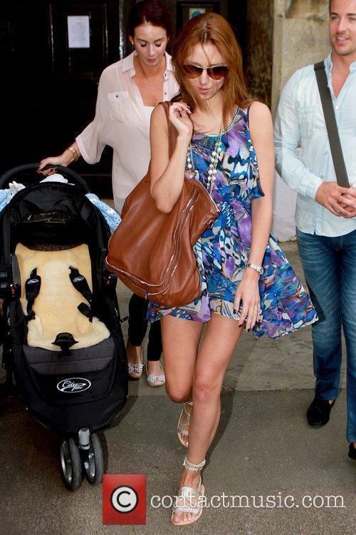 Una Healy Celebrities leaving their hotel after attending...