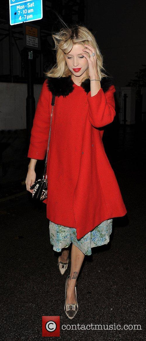 Peaches Geldof out and about in Chelsea.