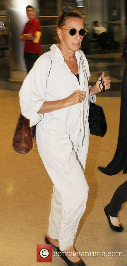 Donna Karan  at LAX airport Los Angeles,...