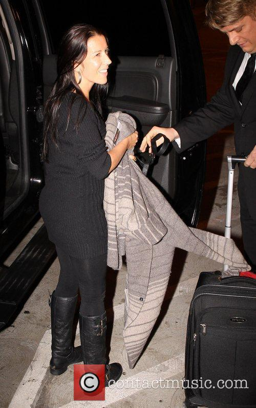 Justin Beiber's mum Pattie Mallette Celebrities arriving at...