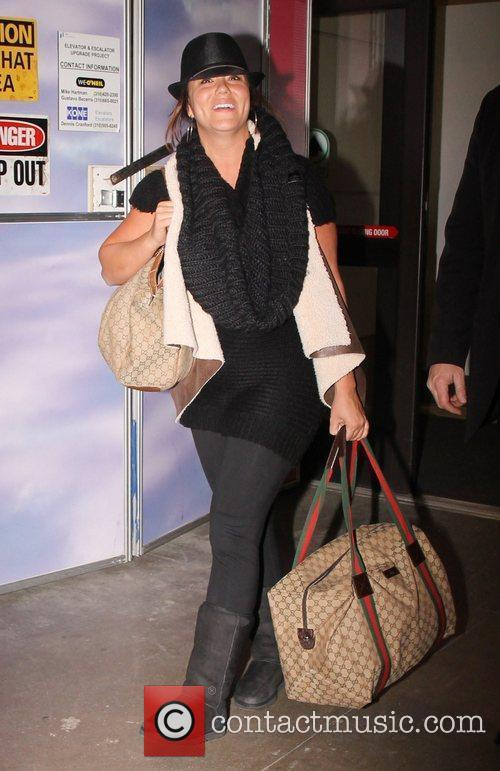 Katy Mixon Celebrities arriving at LAX airport Los...