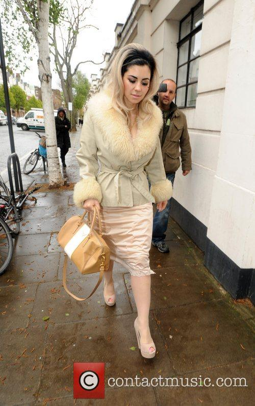 Marina and the Diamonds arriving at the BBC...