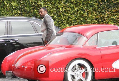 will.i.am parks his car in Beverly Hills Los...
