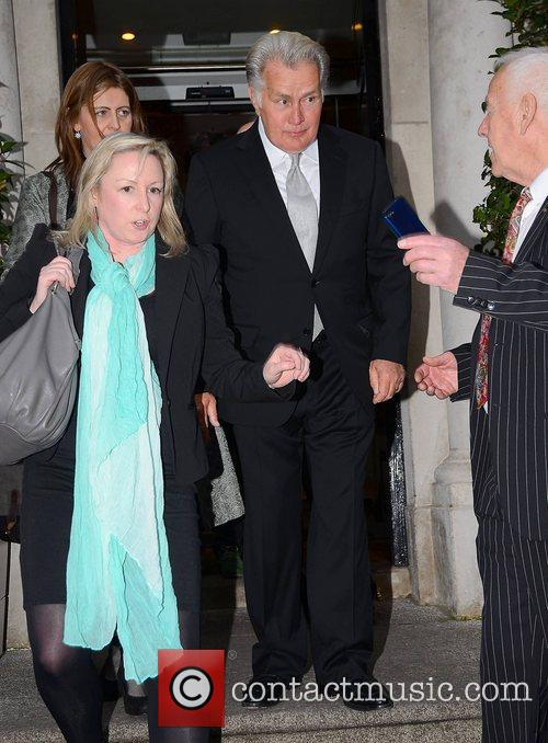 Leaving the Merrion Hotel to attend the screening...