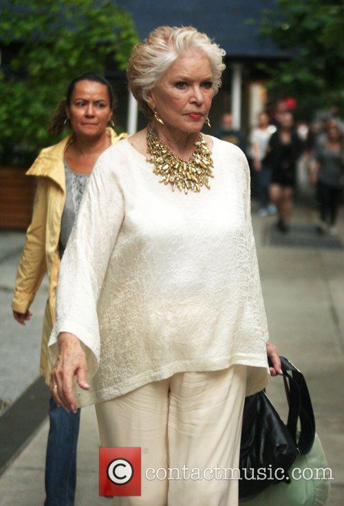 Leaving her New York hotel