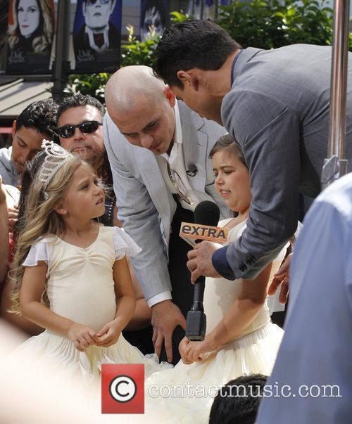 Pitbull and Mario Lopez talk to Sophia Grace...
