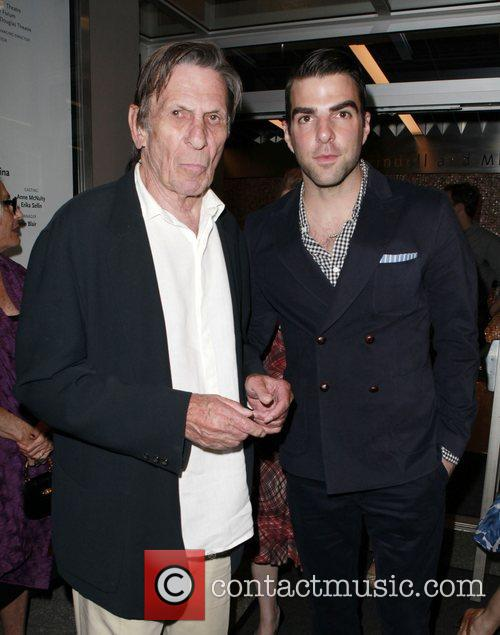 Zachary Quinto and Leonard Nimoy 3