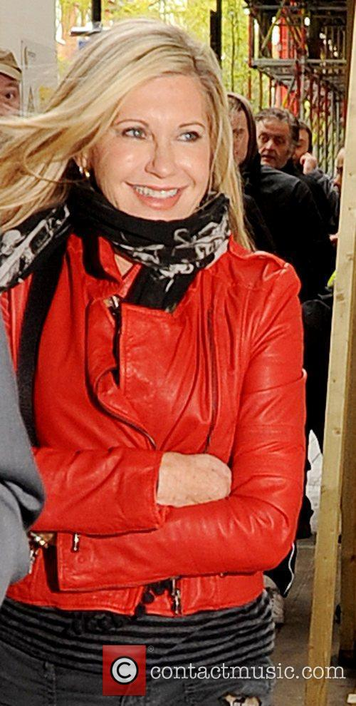 Olivia Newton-John outside the BBC Radio 2 studios...