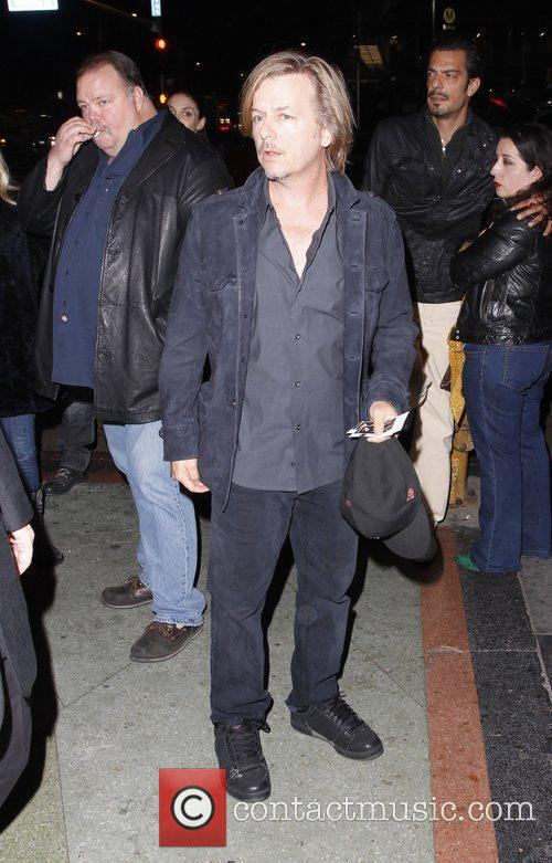 David Spade arriving at the Wiltern Theater to...