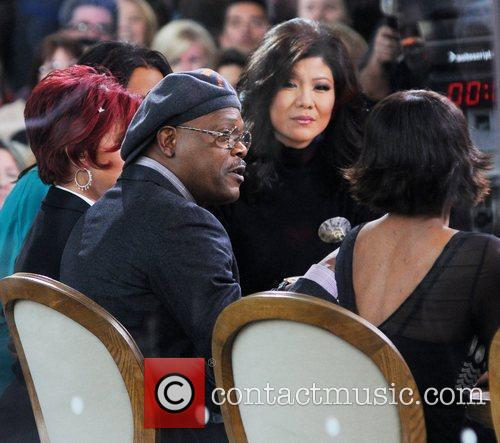 Samuel L. Jackson Celebrities at the set of...
