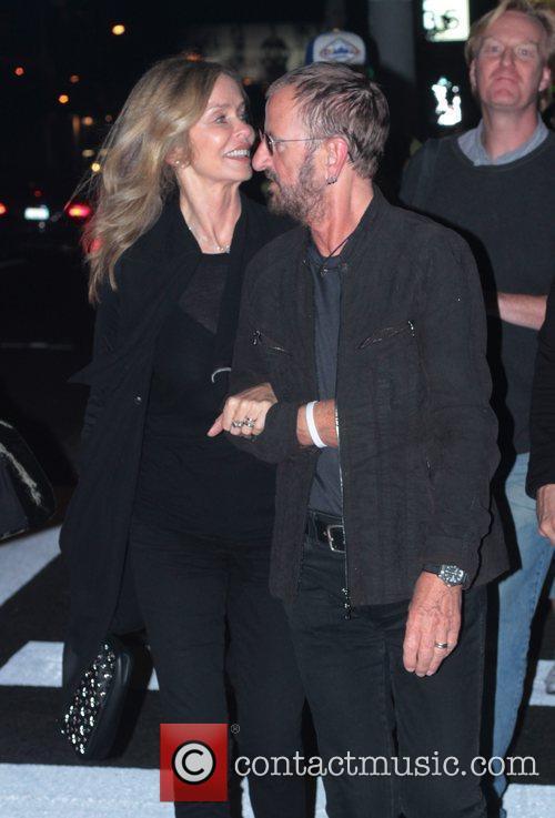 Barbara Bach and Ringo Starr leaving The Viper...