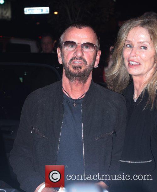 Ringo Starr and Barbara Bach leaving The Viper...