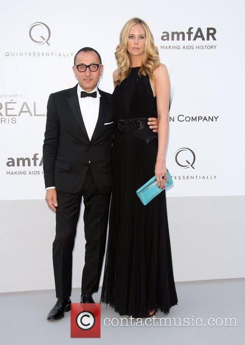 Gilles Mendel and guest AmfAR's Cinema Against Aids...