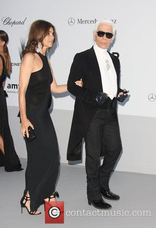 Karl Lagerfeld and guest AmfAR's Cinema Against Aids...