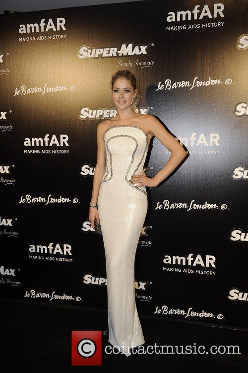 Doutzen Kroes at The AmFar after party at...