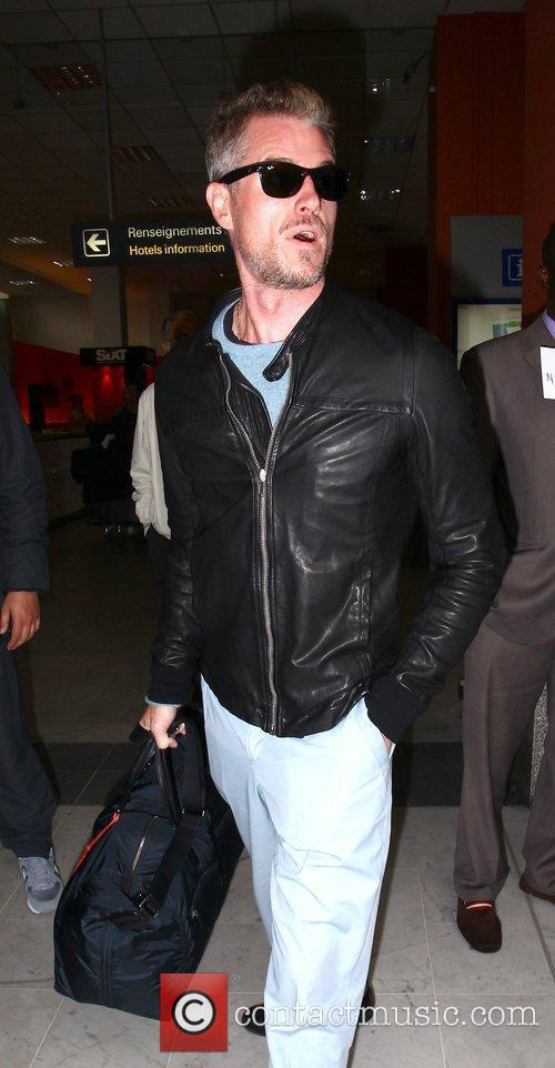 Celebrities at Nice Airport during the 65th Cannes...