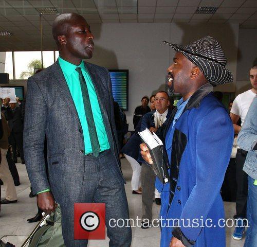 Oswald Boteng  Celebrities at Nice Airport during...