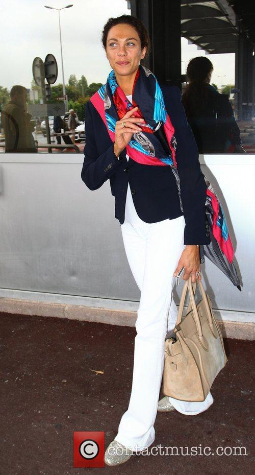 Lilly Kerssenberg Celebrities at Nice Airport during the...