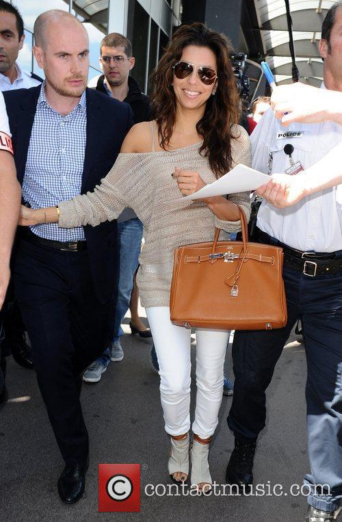 Celebrities arrive at Nice Airport for the Cannes...