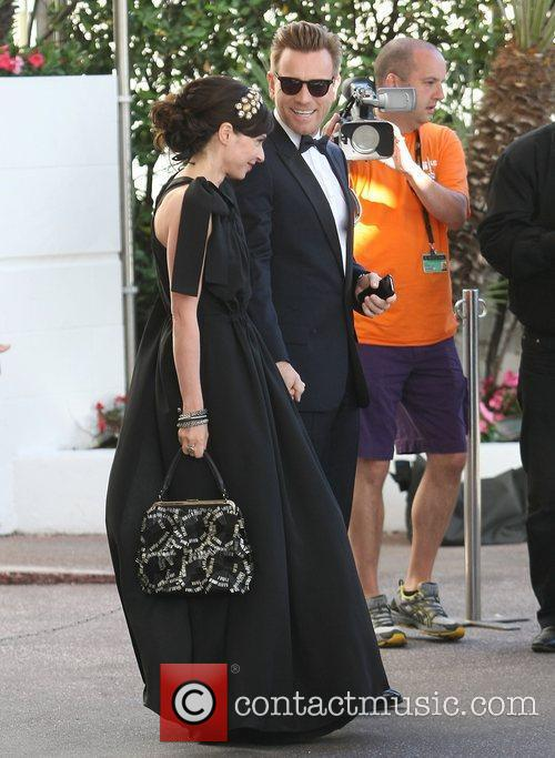 Ewan McGregor Celebrities outside the Martinez Hotel during...