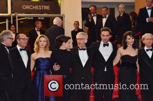 Robert Pattinson and cast 'Cosmopolis' premiere during the...