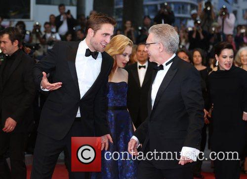 Robert Pattinson and David Cronenberg 'Cosmopolis' premiere during...