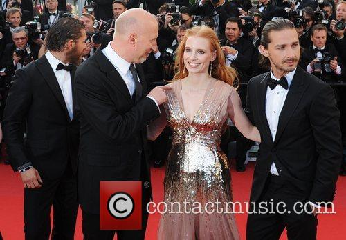Tom Hardy, director John Hillcoat, Jessica Chastain and...