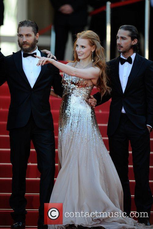 Tom Hardy, Jessica Chastain, Shia Lebeouf 'Lawless' premiere...
