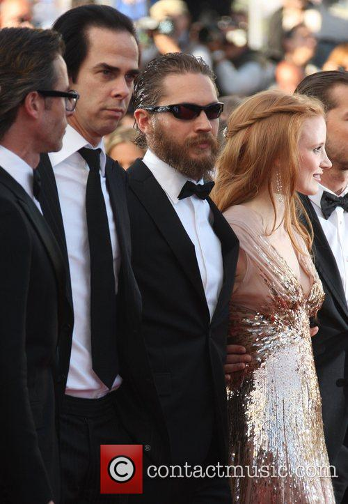 Nick Cave, Tom Hardy, Jessica Chastain 'Lawless' premiere...