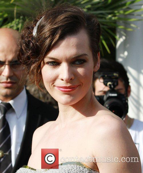 Mila Jovovich  outside the Martinez Hotel during...