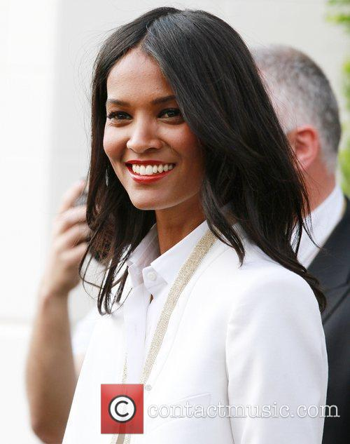 Laila Kebede  outside the Martinez Hotel during...