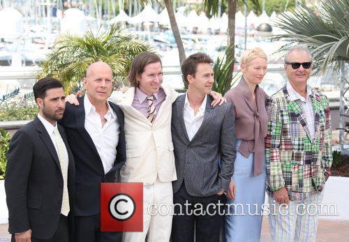 Jason Schwartzman, Bill Murray, Bruce Willis, Edward Norton, Tilda Swinton, Wes Anderson and Cannes Film Festival 1