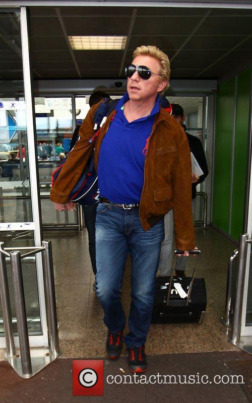 Boris Becker at Nice Airport during the 65th...