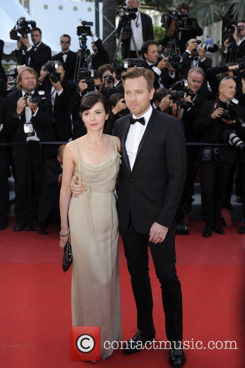 Ewan Mc Gregor and his wife Eve Mavrakis...
