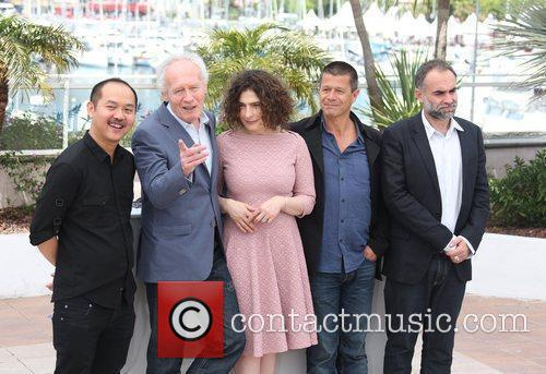 Jurors of the Palme d'Or award are presented...