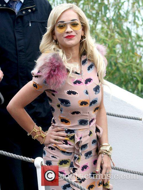 Rita Ora at the 'Grand Journal' during the...