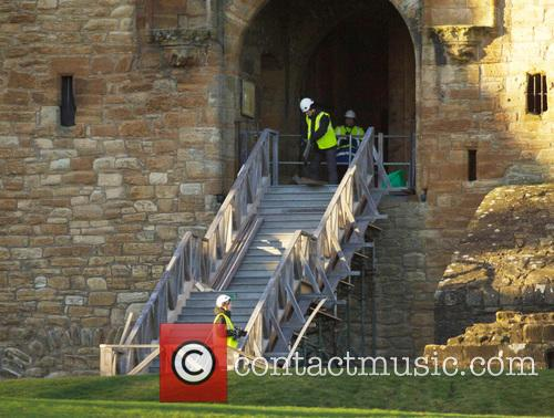 Chanel Linlithgow. Works, Linlithgow Palace, Scotland, Tuesday, December, Workmen, Mary Queen and Scots 2